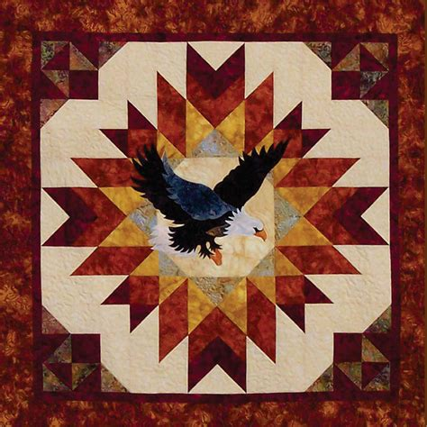 Quilt Pattern Eagle | a blaze of glory eagle quilt pattern