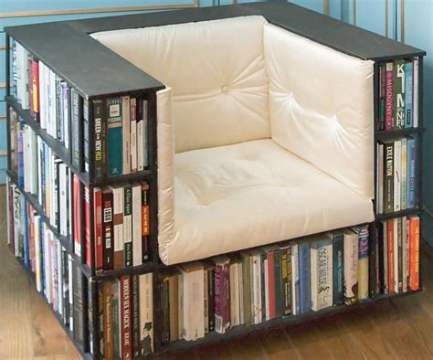 Reading Chairs With Exterior Bookshelves Geekologie