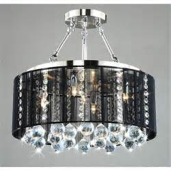 black shade chandelier black drum shade chrome ceiling chandelier pendant