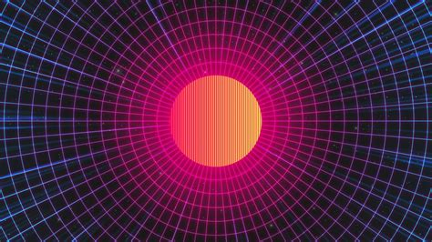 wallpaper sun synthwave electronic  hd abstract