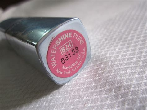Lipstick Maybelline Watershine maybelline watershine lipcolor b24 review and
