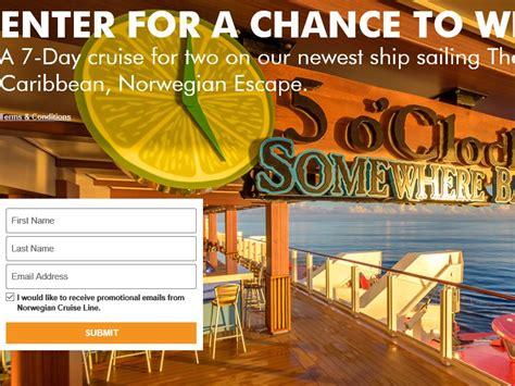 Norwegian Cruise Sweepstakes - norwegian cruise line margaritaville 2016 sweepstakes