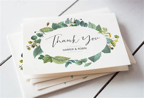 thank you note cards template easy wedding thank you card wording templates a