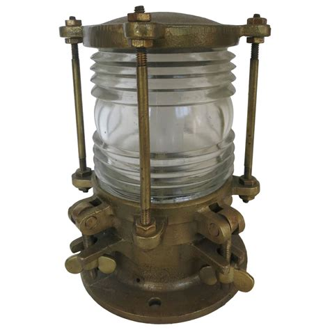piling mounted dock lights bronze piling nautical dock light with fresnel lens for