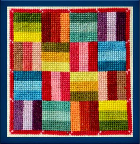 Cross Stitch Quilt Block Patterns by Square Quilt Block Counted Cross Stitch Pattern
