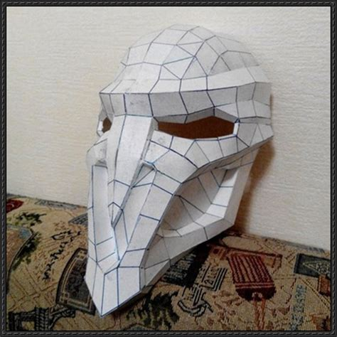 Papercraft Costume - overwatch reaper mask papercraft free http