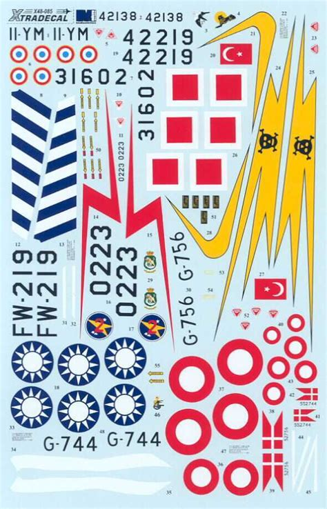 XTRA DECALS 1/48 F-100D SUPER SABRE in Foreign Service ... Xtra Decals