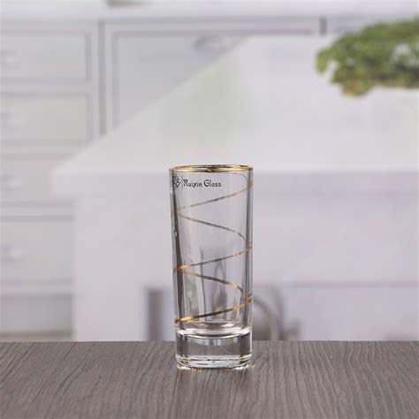glass wholesale china 55ml thick bottom gold glass wholesale