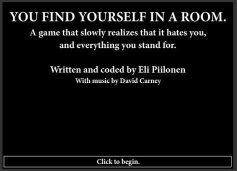 you find yourself in a room you find yourself in a room to play