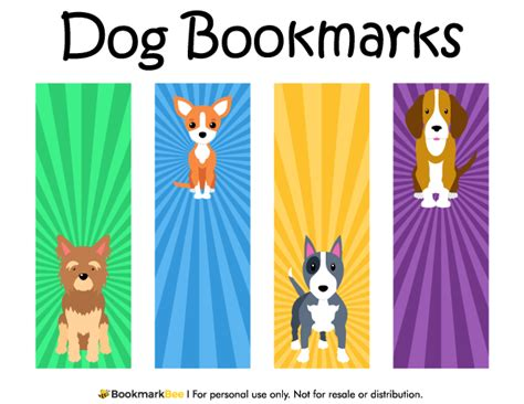 printable puppy bookmarks free printable dog bookmarks download the pdf template at
