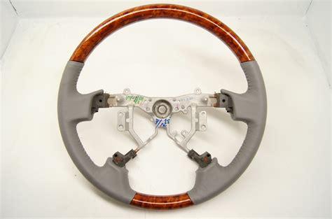 toyota steering wheel 2005 2010 toyota avalon steering wheel grey leather w wood