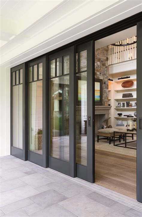 Multi Slide Patio Doors Embrace The View With Pella 174 Architect Series 174 Multi Slide Patio Doors Summer Spaces
