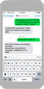 sms voting services independent secret ballots govote