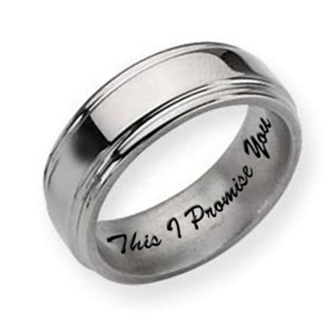 titanium grooved edge 8mm polished s promise ring