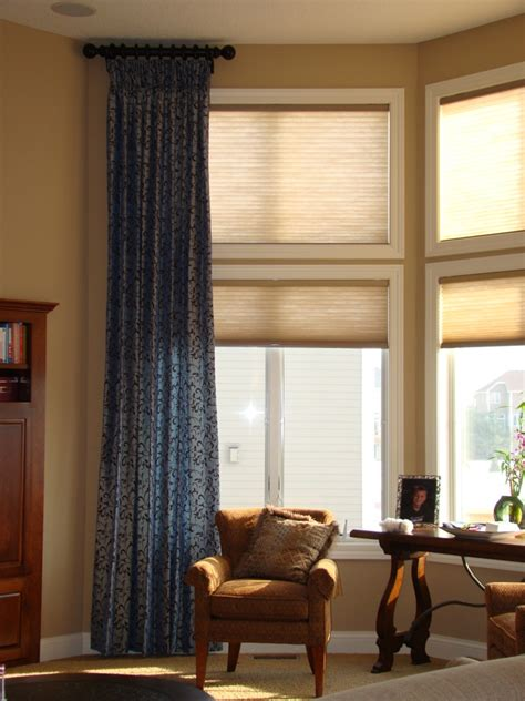 high window coverings before and after window treatments for high windows a
