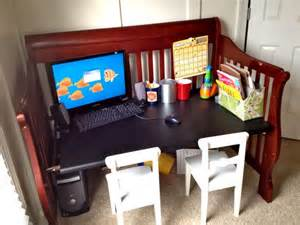 baby crib desk