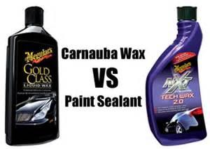 best paint sealant for new car carnauba wax
