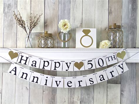 Flag Happy Wedding 50th anniversary banner happy anniversary banner 50th