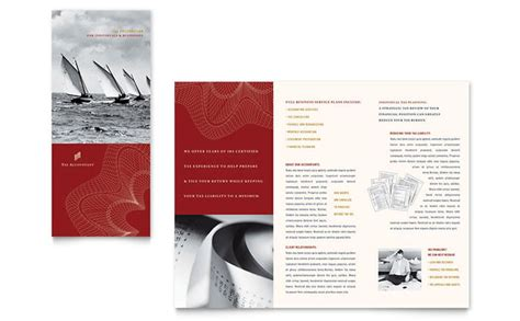 cpa tax accountant brochure template design
