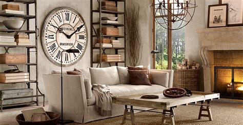 restoration hardware living room ideas create a warm industrial living space amazing design for