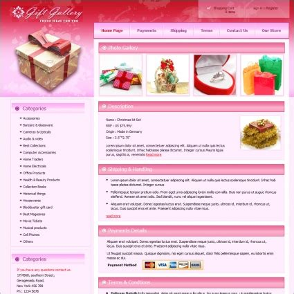 website templates for gift shop gift gallery template free website templates in css html