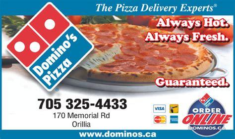 domino pizza newmarket domino s pizza orillia on 205 memorial ave canpages