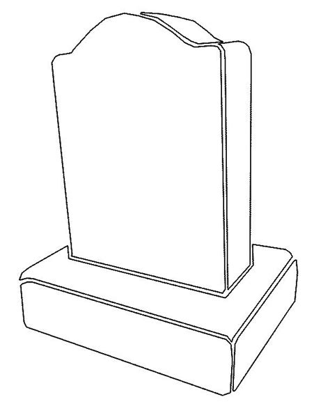 Tombstone Clipart Clipart Suggest Free Gravestone Template