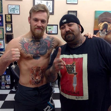 what tattoo does mcgregor have photos conor mcgregor gets a tiger tattoo over his