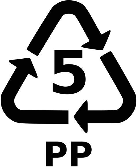 logos plastic resin code 5 pp png