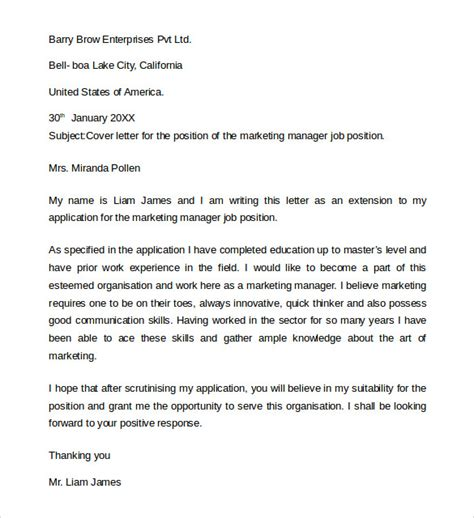 simple cover letter for application sle application cover letter 10 free documents in