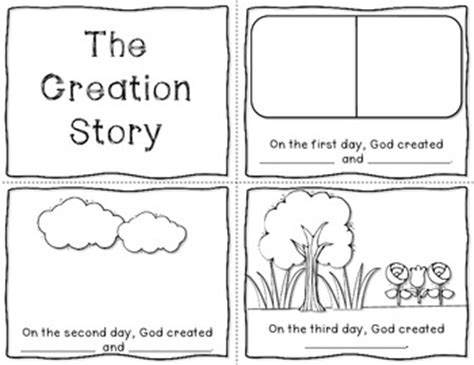 themes in the creation story the creation story mini book freebie bible craft