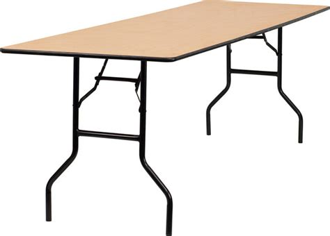 96 rectangular wood folding banquet table with clear