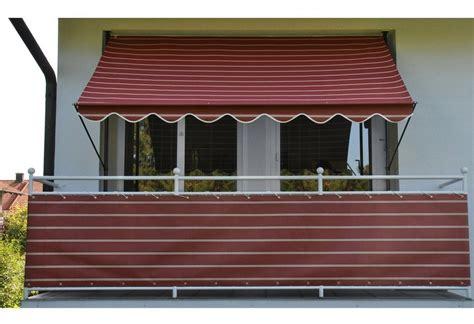balkon markise kaufen angerer freizeitm 214 bel klemmmarkise weinrot wei 223