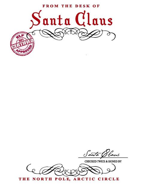 free printable letter from santa template 25 unique santa letter template ideas on