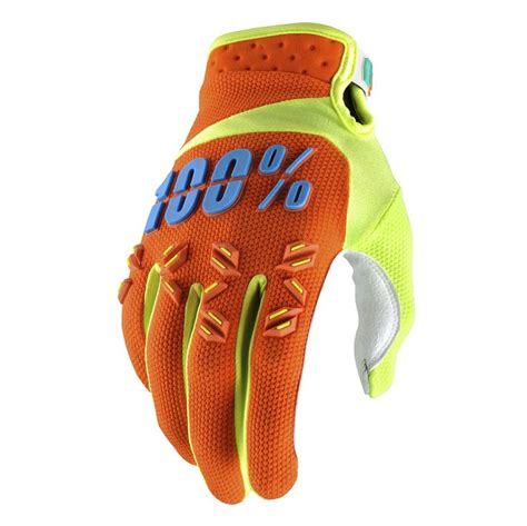 100 motocross gloves 2017 100 airmatic mx gloves orange grips bikes