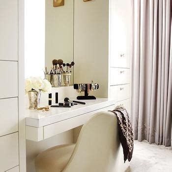 Curved Vanity Cabinets Built In Dressing Room Vanity Design Ideas