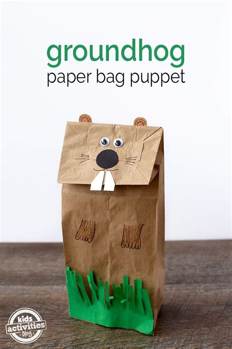 groundhog day sequel easy and groundhog paper bag puppet paper bag