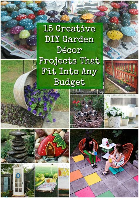 27 diy outdoor decorations ideas you will want to start 15 creative diy garden decor projects that fit into any budget diy crafts