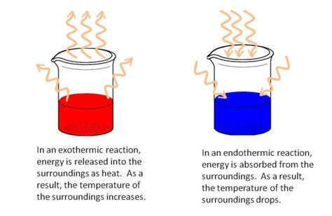 Energetics Endothermic And Exothermic Reactions Temperature Change