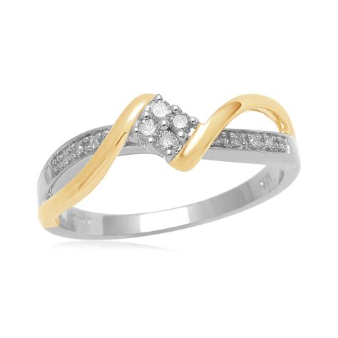 eternal treasures 1 10 cttw cut gold and silver