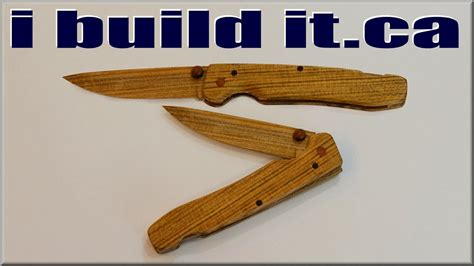 making  wooden folding knife youtube