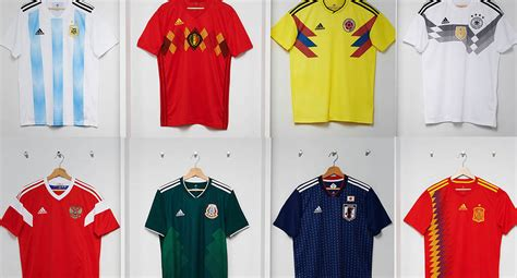adidas argentina belgium colombia germany mexico russia spain 2018 world cup home kits