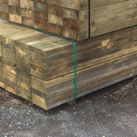 Treated Pine Sleepers 200 X 75 by 200mm X 75mm X 2 4m Pine Sleepers Cca Treated Cobble Patch