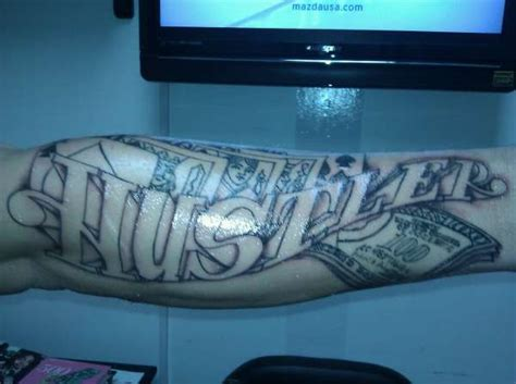 hustler tattoos hustler arm