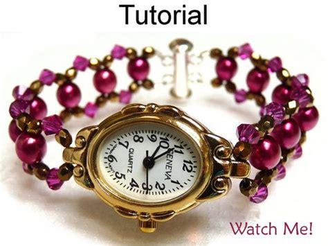 Tutorial Watch Me | beading tutorial pattern watch bracelet beaded watch