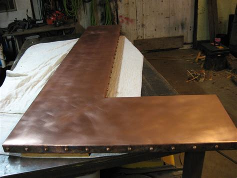 html top bar heavy metal works copper bar counter top