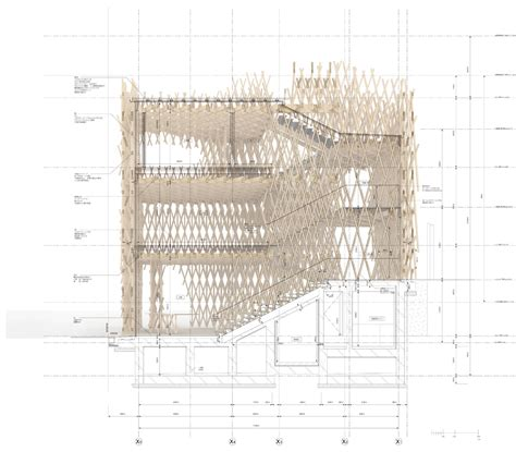gc sections sunnyhills cake shop by kengo kuma encased within