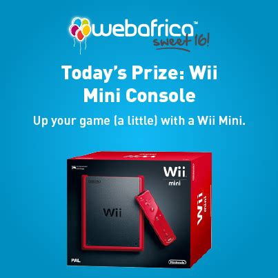 Our Wii Winner by Web Africa Sweet 16 Giveaway Win A Wii Mini Console Worth
