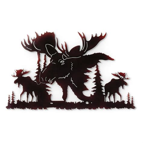 Moose Wall Decor by Moose Metal Wall 648667 Wall At Sportsman S Guide
