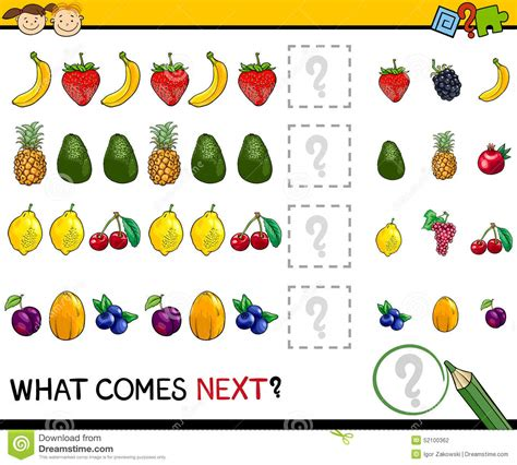 pattern quiz for kindergarten completing the pattern educational game for preschool